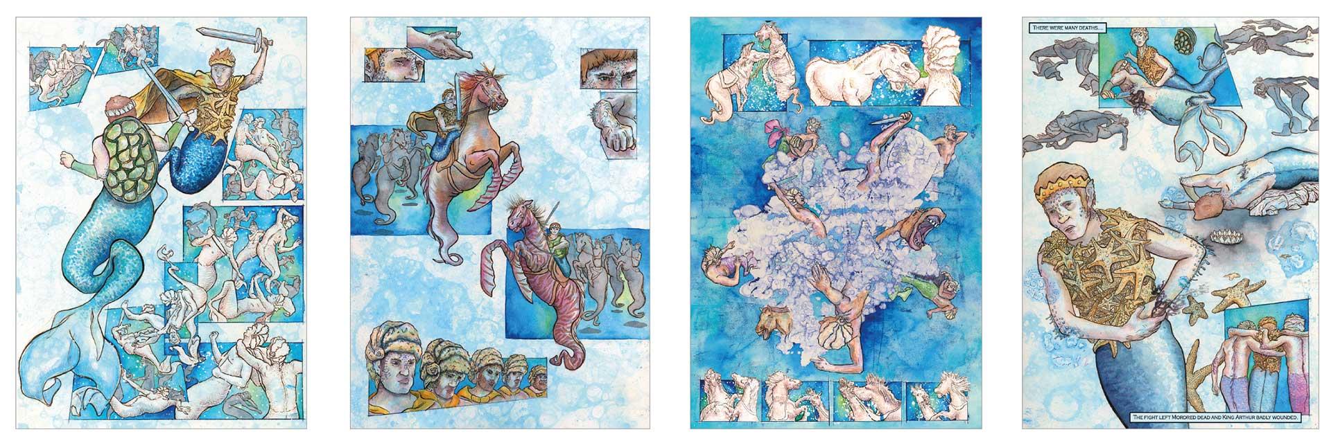 Zeichnungen-Comicbuch