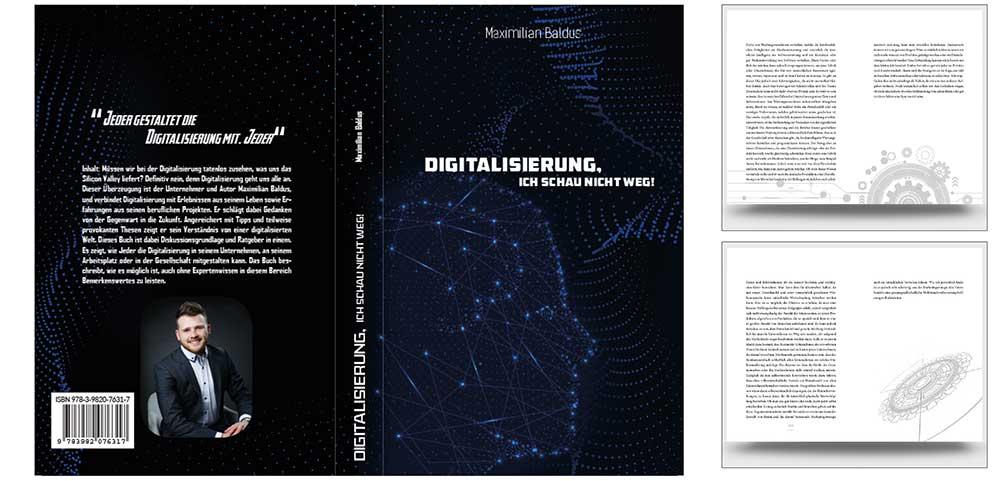 Buchdesign-Titel-Digitalisierung