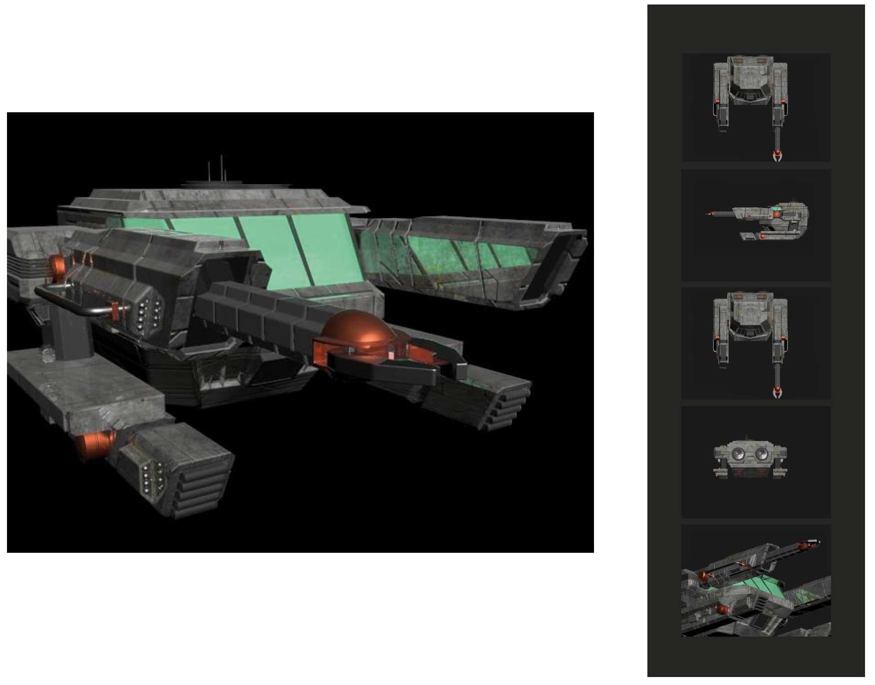 Raumschiff-Gamedesign-Entwurf