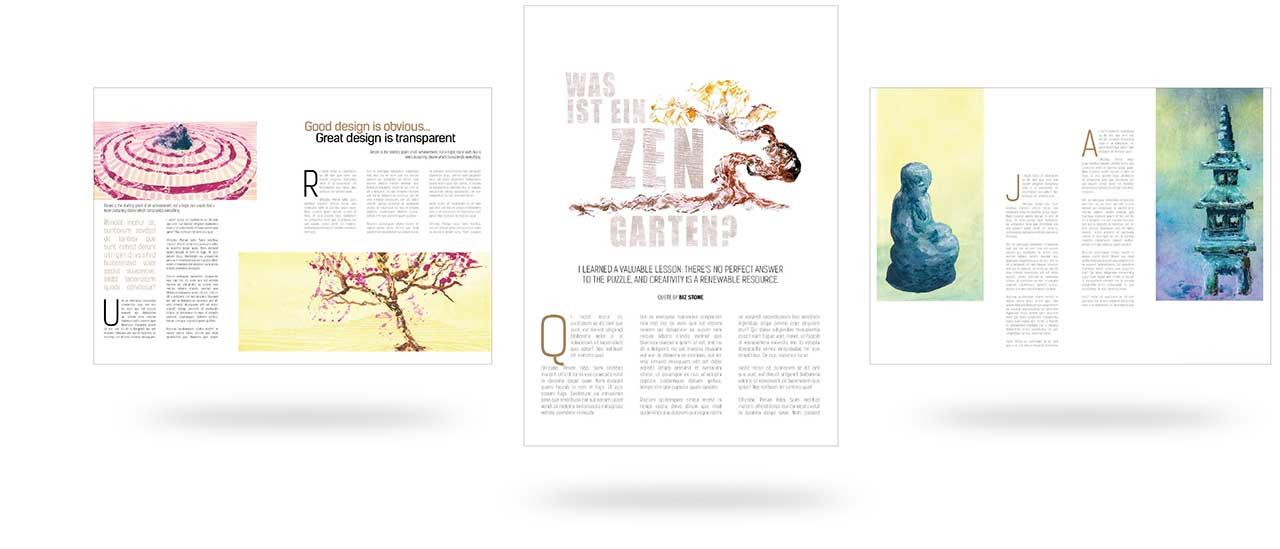 Illustration-Buch-Zen-Garten